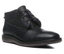 Herren Schuhe FINN Kalbleder, Lammfell gefüttert schwarz