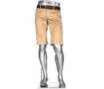 Hose Bermudashorts Lou-K-J Regular Slim Fit Baumwolle sand