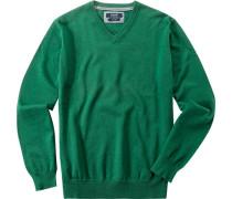 Herren Pullover Baumwolle smaragdgrün