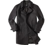 Mantel Wolle anthrazit meliert ,schwarz