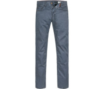 Blue-Jeans Straight Fit Baumwolle navy