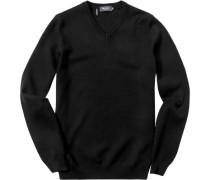 Herren Pullover Baumwoll-Mix schwarz