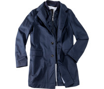 Mantel Cifulham Baumwolle tintenblau ,weiß