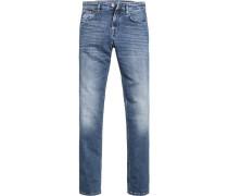 Jeans, Modern Fit, Baumwoll-Stretch, jeansblau