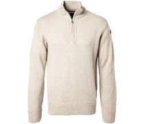 Pullover Troyer, Wolle, sand meliert