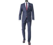 Anzug Modern Fit Schurwolle Super110 REDA dunkelblau meliert