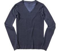 Herren Pullover Pulli Baumwolle marine blau
