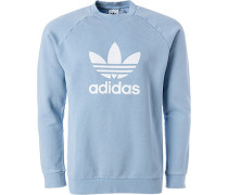 Pullover Sweater, Baumwolle, hellblau