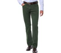 Herren Blue-Jeans Regular Fit Baumwoll-Stretch tannengrün