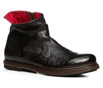 Herren Schuhe Stiefeletten Leder testa di moro braun,rot