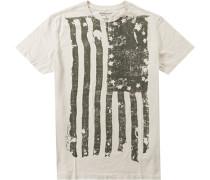 Herren T-Shirt Baumwolle ecrue beige