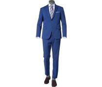 Herren Anzug Baumwoll-Stretch blau