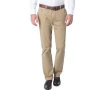 Herren Hose Chino Modern Fit Baumwoll-Stretch camel beige