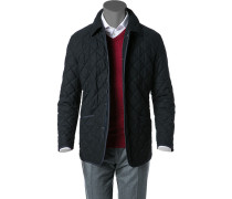 Steppjacke Microfaser-Wolle-Mix navy