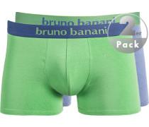 Unterwäsche Trunks, Baumwoll-Stretch, rauchblau-grün