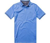 Herren Polo-Shirt Polo Baumwoll-Jersey himmelblau