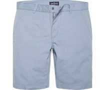 Hose Bermudashorts Baumwolle pastellblau