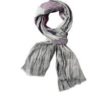 Schal LONDON Baumwolle -bordeaux gemustert