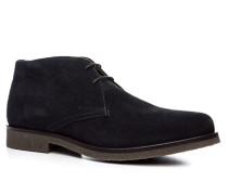 Herren Schuhe Desert Boots Veloursleder navy blau,beige