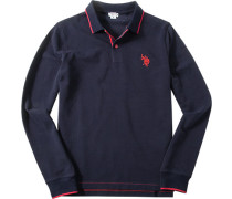 Herren Polo-Hemd Baumwoll-Piqué marine blau