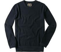 Pullover Baumwolle marineblau