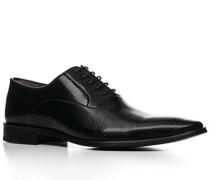Herren Schnürschuhe Kalbleder schwarz schwarz,schwarz