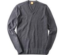 Pullover Baumwoll-Mix dunkelgrau meliert