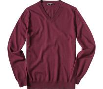 Pullover Schurwolle bordeaux