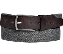 Herren Gürtel dunkelbraun-anthrazit Breite ca. 3,5 cm grau