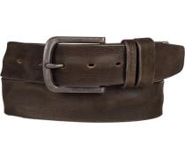 Herren Gürtel schokobraun Breite ca. 3,5 cm