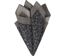 Accessoires Einstecktuch Wolle grau-navy gemustert