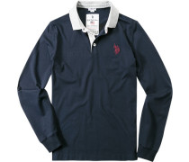 Polo-Shirt Polo, Baumwoll-Jersey, Applikation hinten, marine