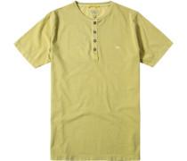 Herren T-Shirt Baumwolle gelbgrün
