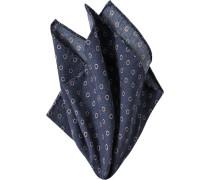 Accessoires Einstecktuch Wolle marineblau gepunktet