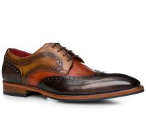 Schuhe Budapester Leder testa di moro-cuoio