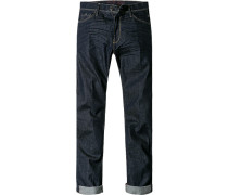 Jeans Regular Fit Baumwoll-Stretch dunkelblau