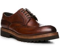 Schuhe Budapester Leder cognac