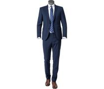 Anzug Slim Fit Schurwolle Super100 dunkelblau