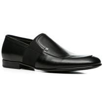 Herren Schuhe Slipper Kalbleder schwarz schwarz,schwarz