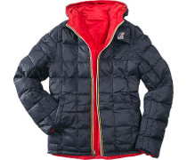 Wendejacke Jaques Thermo Plus Daunen, Funktionsmaterial nachtblau-rot