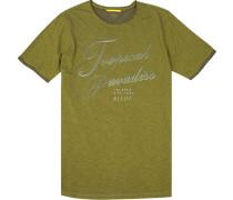 T-Shirt Baumwolle lemon meliert