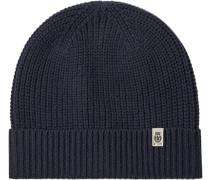Mütze Wolle dunkelblau