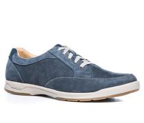 Schuhe Sneaker Nubukleder navy