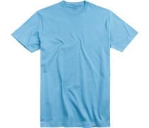 T-Shirt Pima-Baumwolle azurblau