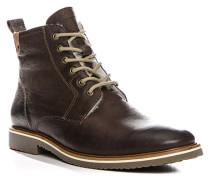 Herren Schuhe STEVEN Büffel-Kalbleder warm gefüttert braun braun,weiß