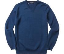 Herren Pullover Baumwoll-Mix royalblau