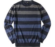 Pullover Schurwolle -grau gestreift