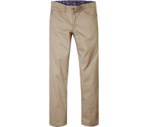 Herren Jeans Classic Fit Baumwoll-Stretch beige
