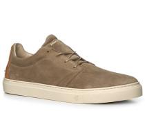 Schuhe Sneaker Veloursleder greige