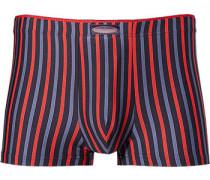 Herren Unterwäsche Shorts Microfaser-Stretch blau-rot gestreift